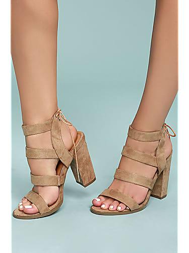 lulus sydney beige suede high heel sandals