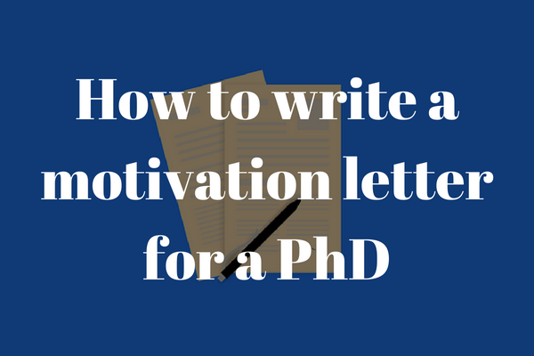 Sample Motivation Letter For Your PhD Application | INOMICS