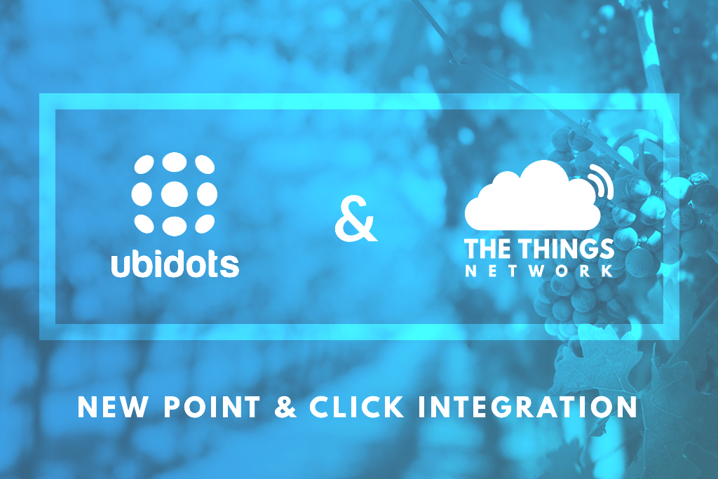 Point & Click LoRaWAN IoT Application Development with TTN and Ubidots