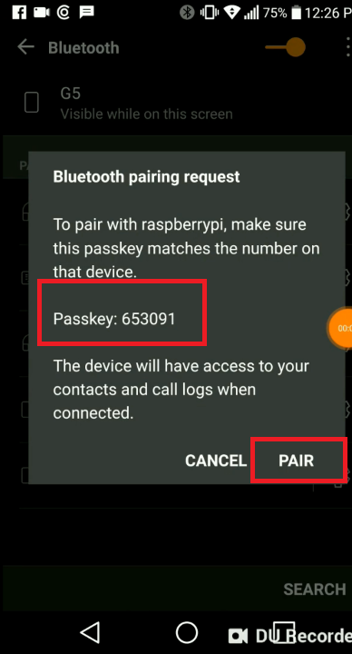 Set up Raspberry Pi's Wi-Fi via Bluetooth to then send data