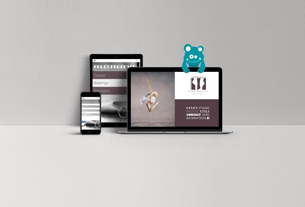 presentation du site web d'Arabesque