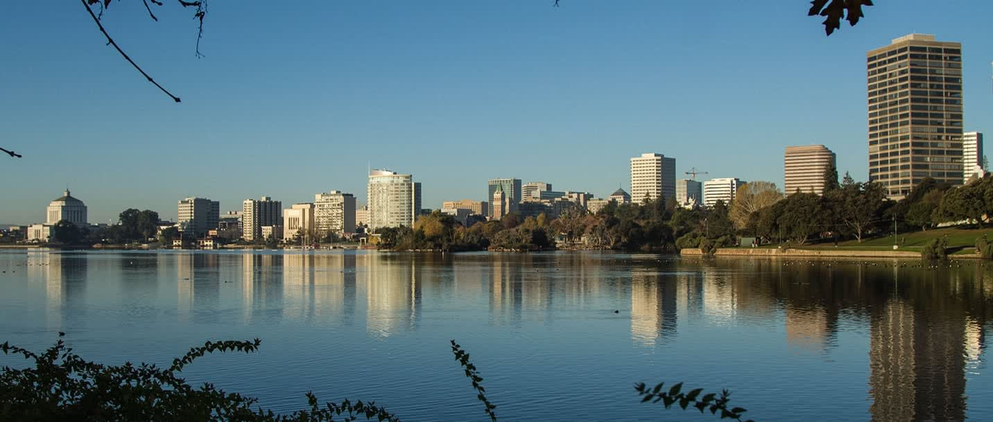 View of Lake Merrit in Oakland, California.