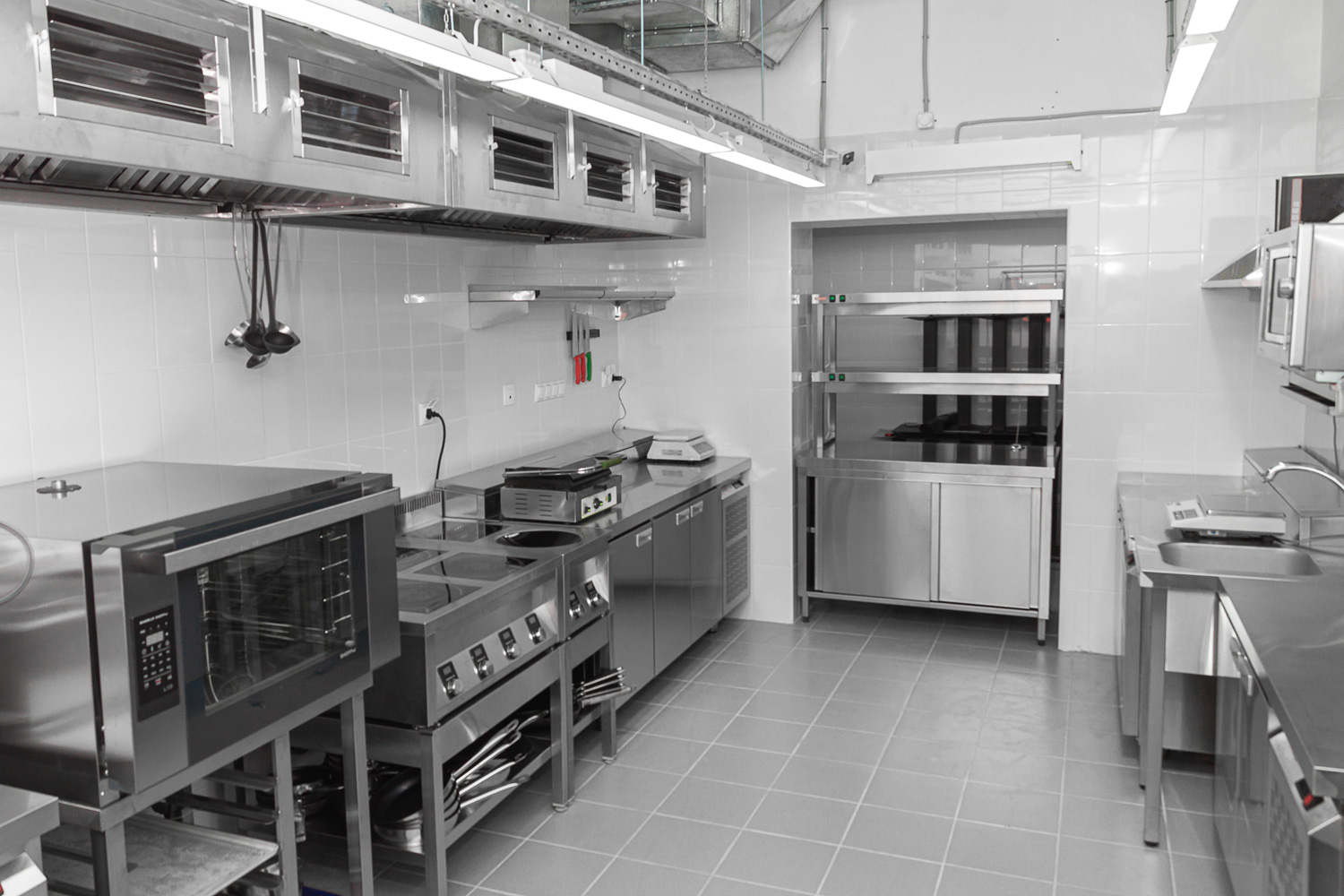 Induction commercial kitchen