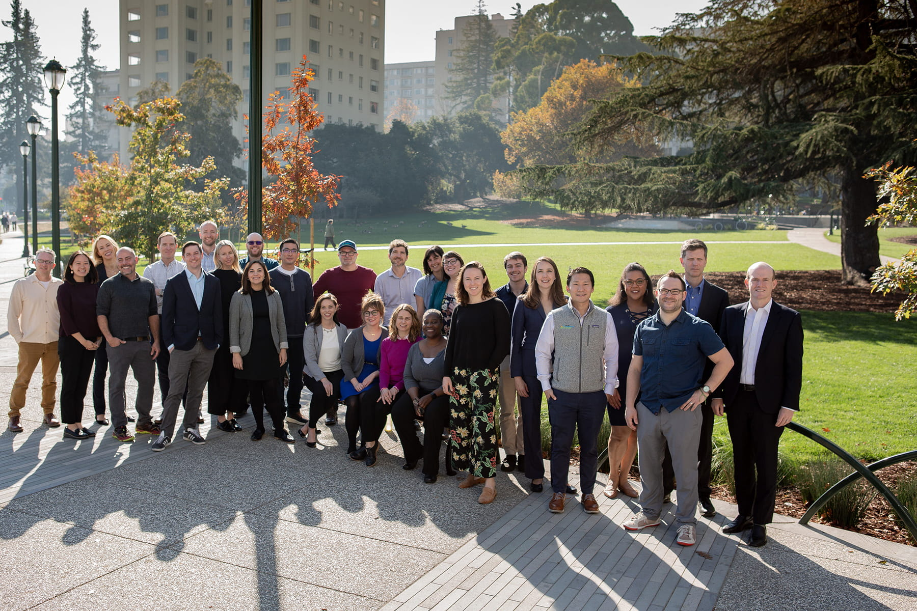 EBCE team members standing together in a park