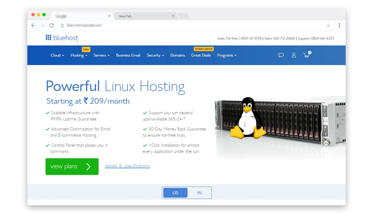 Bluehost India Discount Coupons on hosting plans