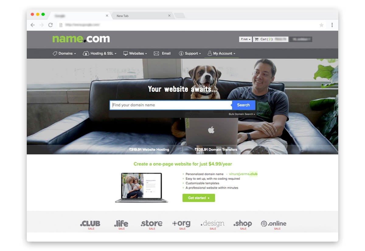 Name.com discount coupons on domain names, hosting, SSL certificates