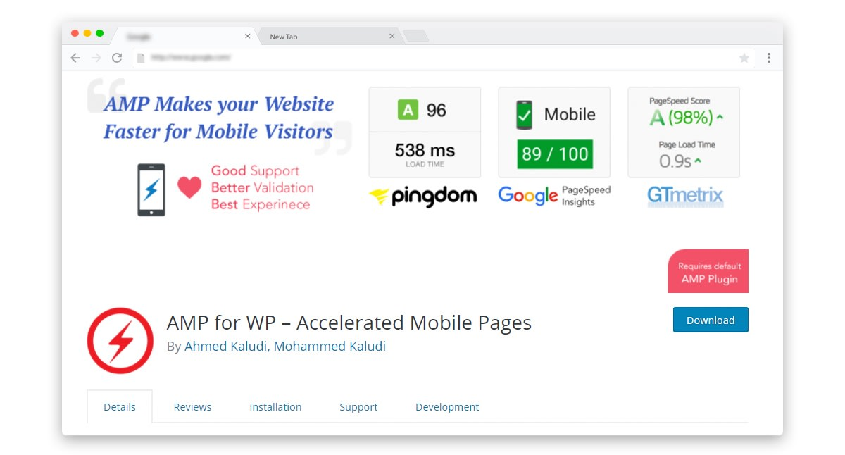 AMP for WP Plugin and Extensions for WordPress AMP