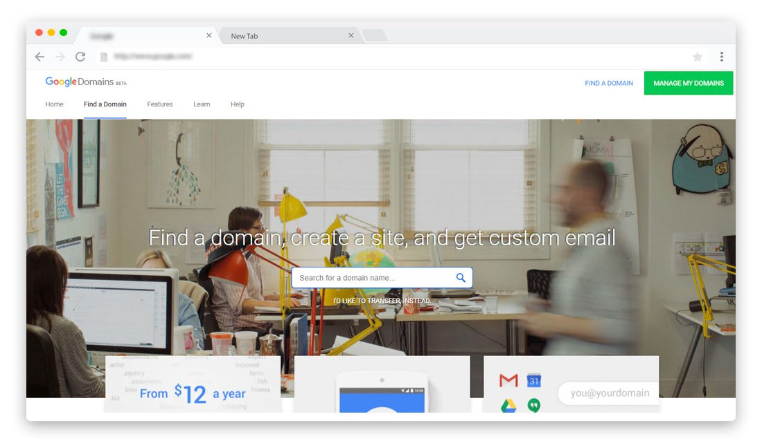 Google Domains Domain registrar Features