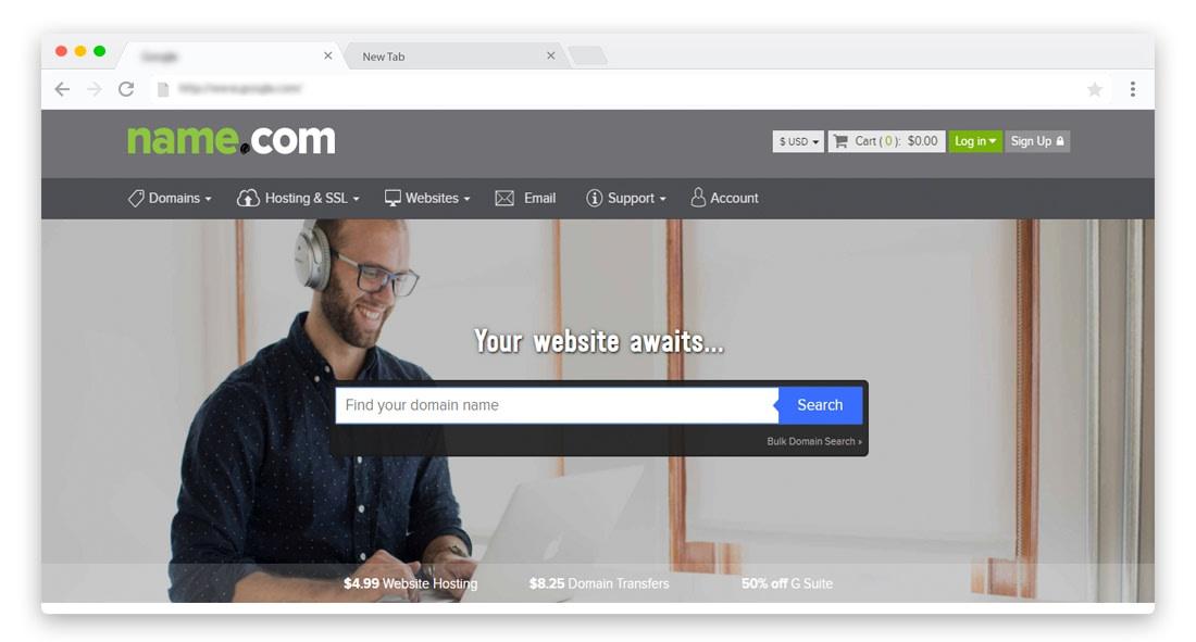 Name.com Domain registrar Features