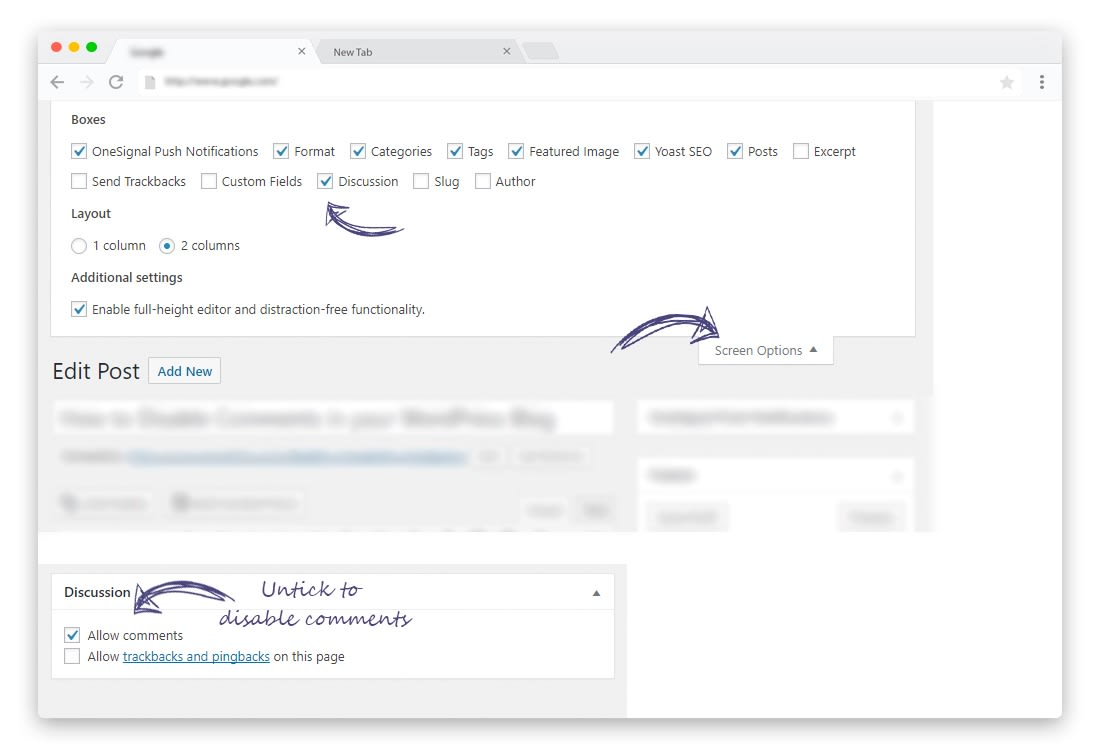 How to Disable Comments on individual WordPress Posts and Pages