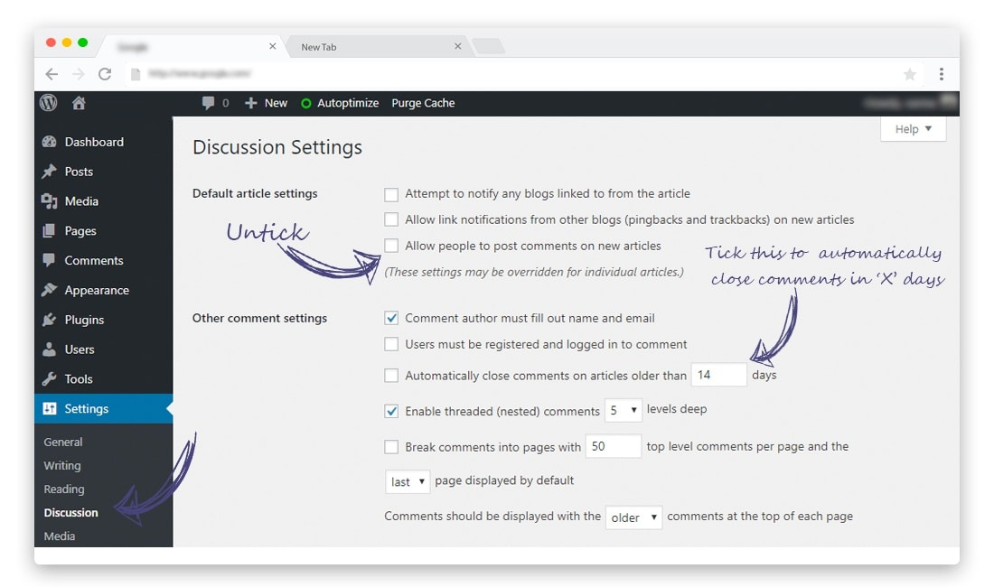 How to Disable Comments on entire WordPress