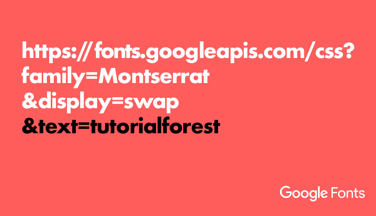 Optimize Google Fonts by using Text Parameters