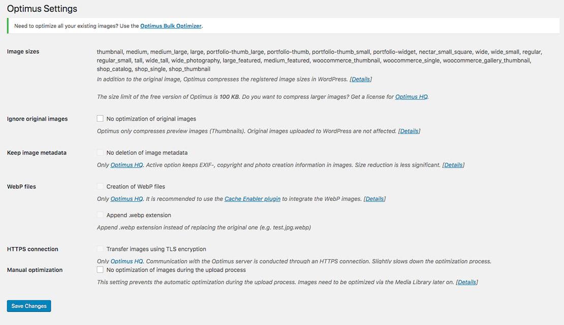 Optimus Image Compression and Optimization Plugins for WordPress