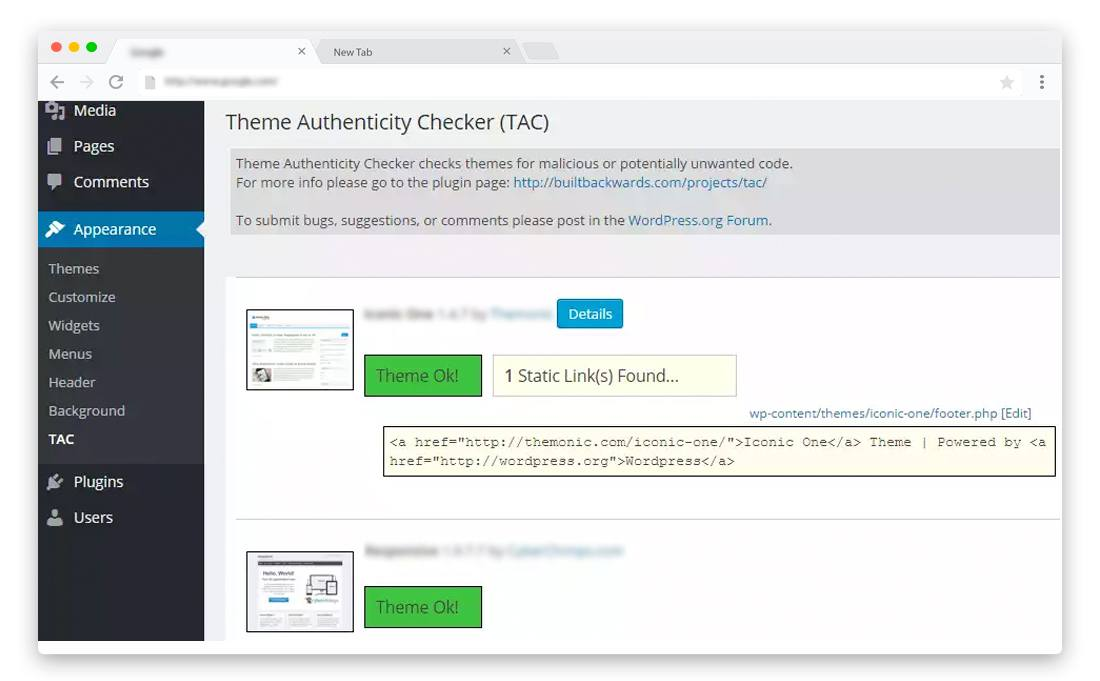 WordPress Plugins to scan WordPress Themes