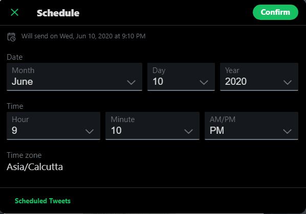 Twitter Scheduling