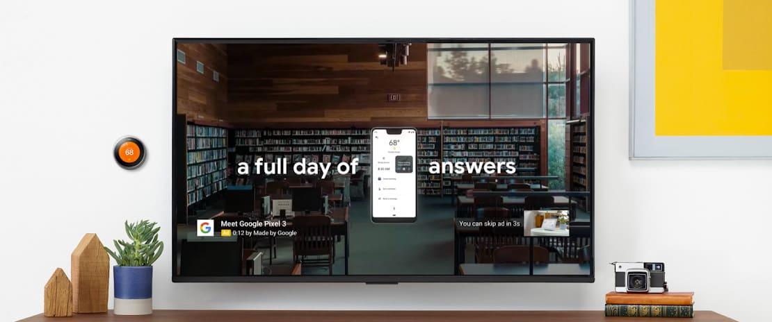 YouTube ads on TV screens