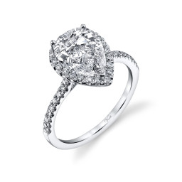 Halo Diamond Engagement Rings For Sale