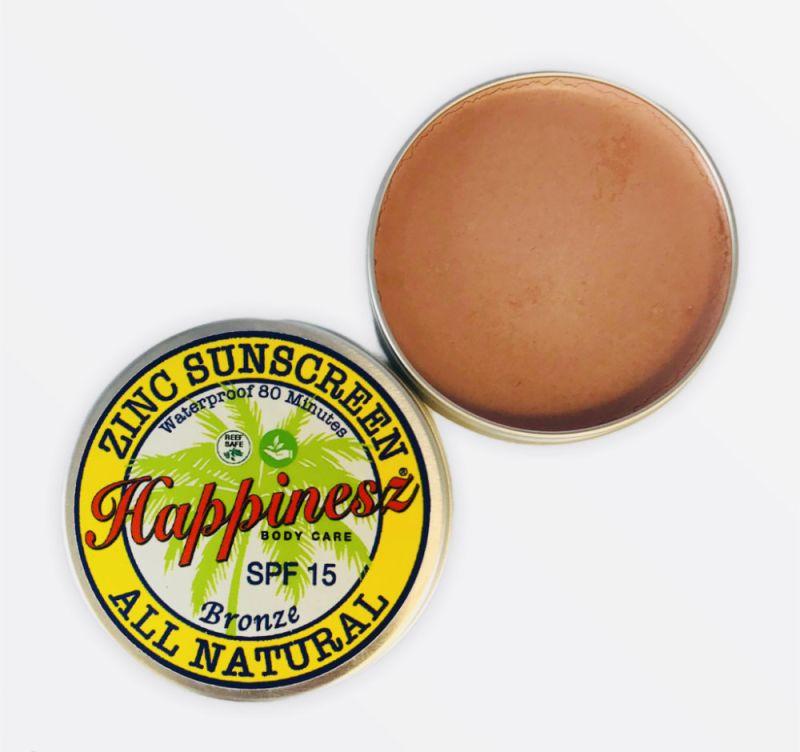 happinesz - organic-zinc-sunscreen-face-body-bronze-spf-15
