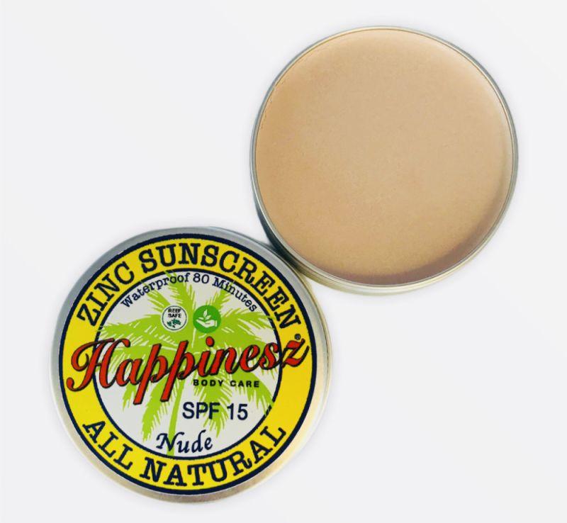 happinesz - organic-zinc-sunscreen-face-body-nude-spf-15