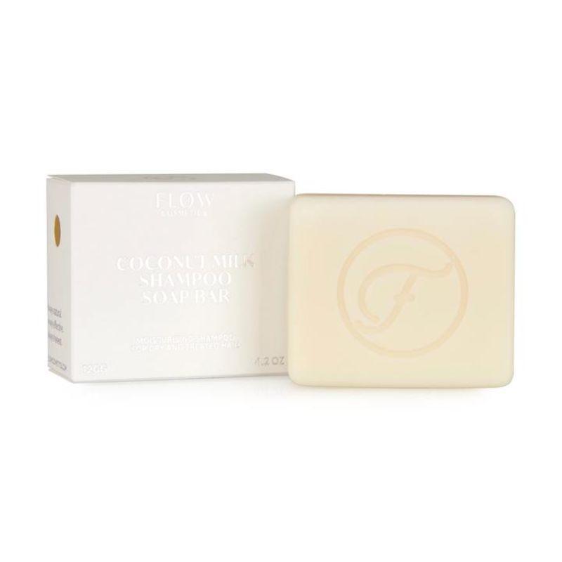 flow-cosmetics - coconut-milk---moisturizing-shampoo-bar-voor-droog-en-grof-haar