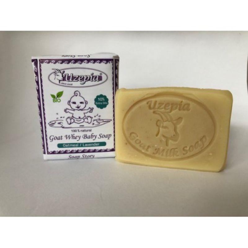 uzepia - goat-whey-baby-soap-lavendel
