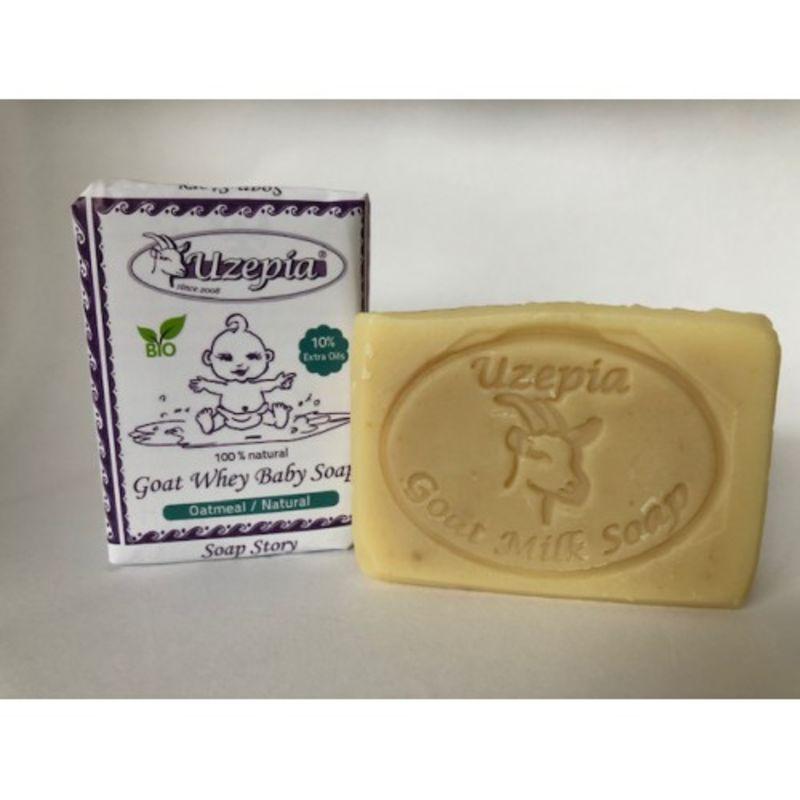uzepia - goat-whey-baby-soap-naturel