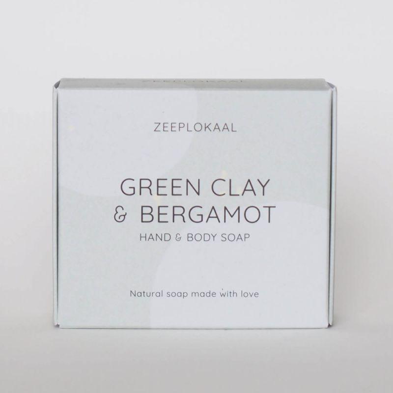 zeeplokaal - groene-klei-bergamot-zeep