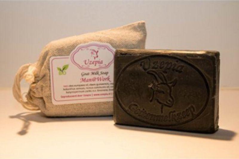 uzepia - manwork-black-goat-milk-soap