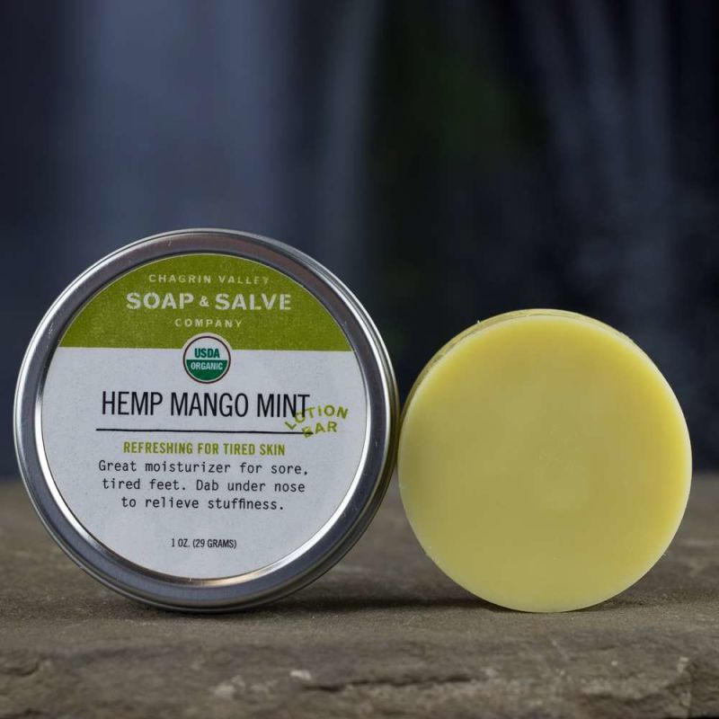 chagrin-valley - hemp-mango-mint-lotion-bar