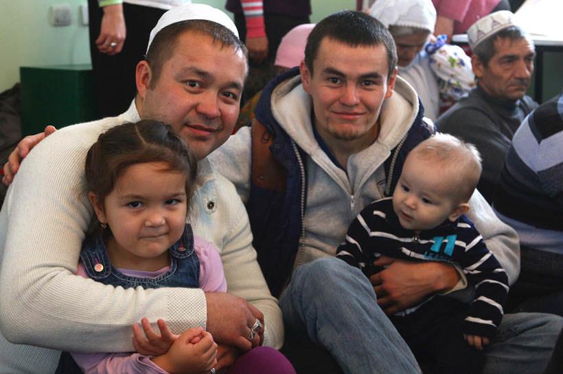 молодые мусульмане деревни Абзелилово