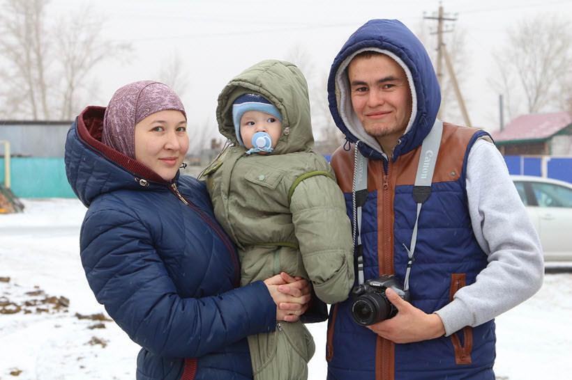 мусульманская молодая семья