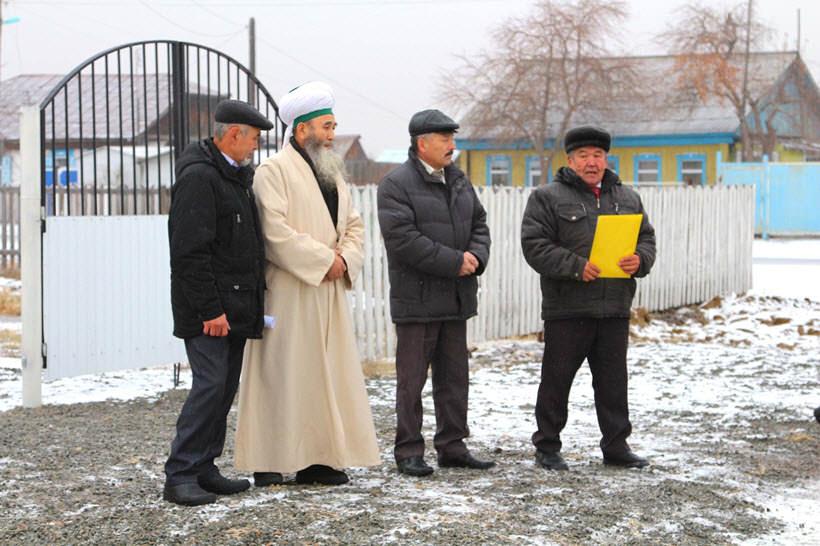 выступление перед открытием мечети в деревне Абзелилово