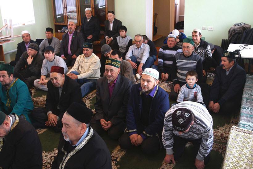 прихожане мусульмане мечети Абзелилово
