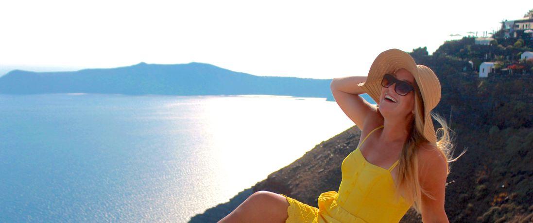Anne in Santorini