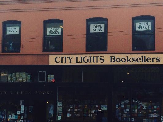 Front of City Lights Bookstore