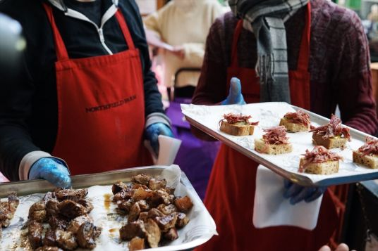English meats for sampling at Borough Market