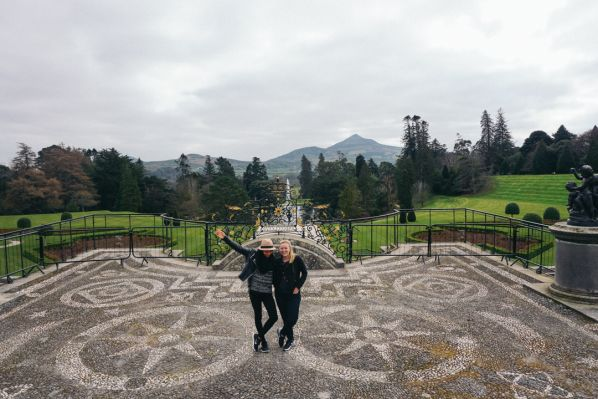 Travel to Powerscourt in Ireland