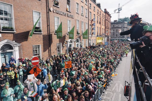 Celebrating St Patrick's Day, Dublin
