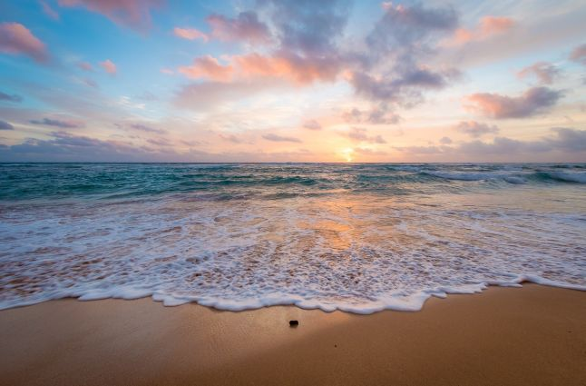 Kauai beach sunrise