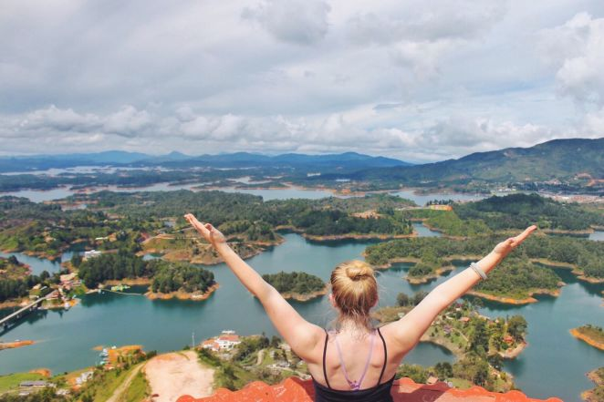 View of Guatape, Colombia