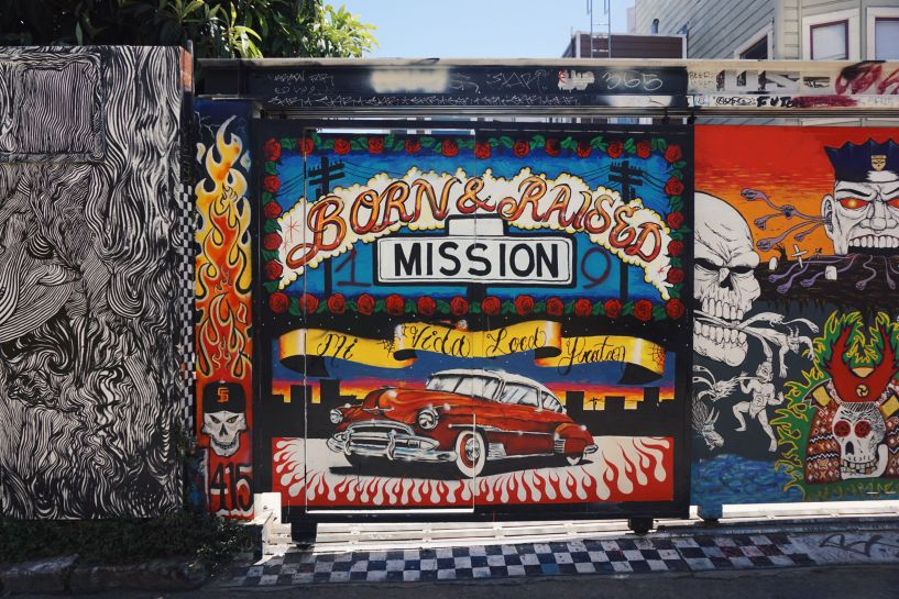 Mission graffiti, San Francisco