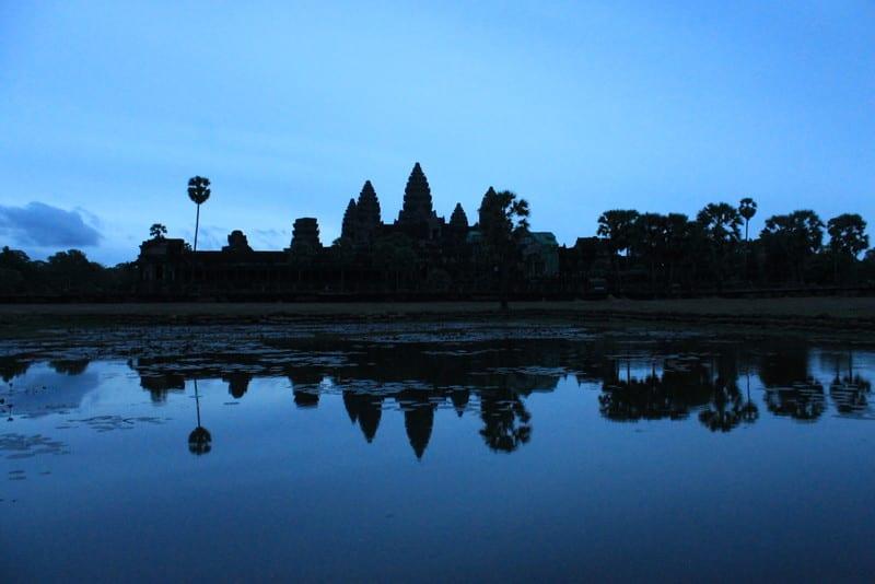 A blue-tinted Angkor Wat - Cambodia