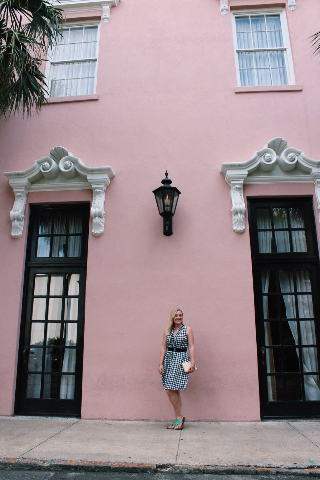 Charleston pink buildings