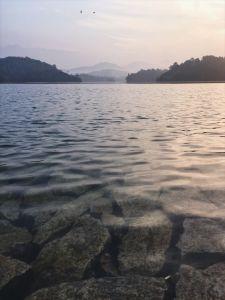 Morning meditation spot in Kerala, India