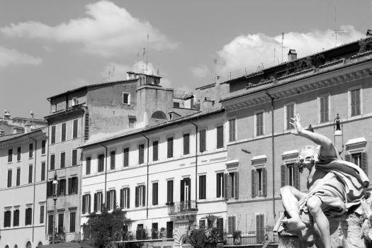 Rome black and white