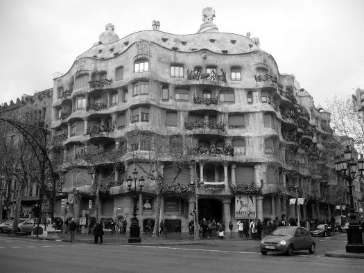 La Pedrera Barcelona in Black and White