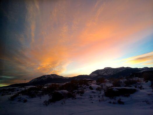 Sunset sky in Nevada