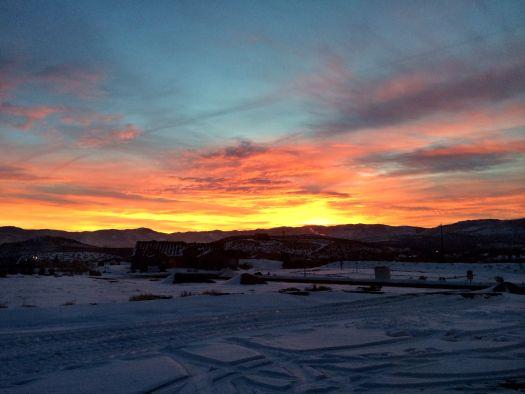 Sunrise Nevada sky