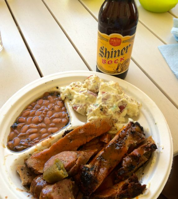 Texas BBQ near Lake LBJ