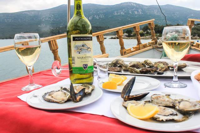 Oysters in Mali Ston, Croatia